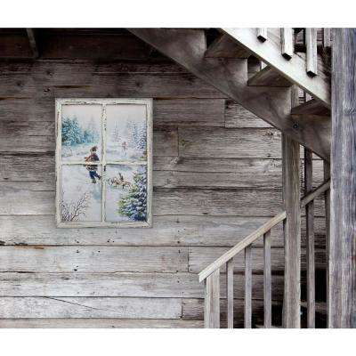 """Sled Ride with Kitty"" by Opportunities Canvas Wall Art"