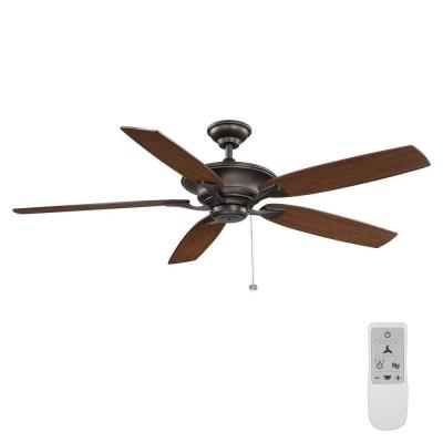 Ashburton 60 in. Espresso Bronze Ceiling Fan with WiFi Remote Control works with Google Assistant and Alexa