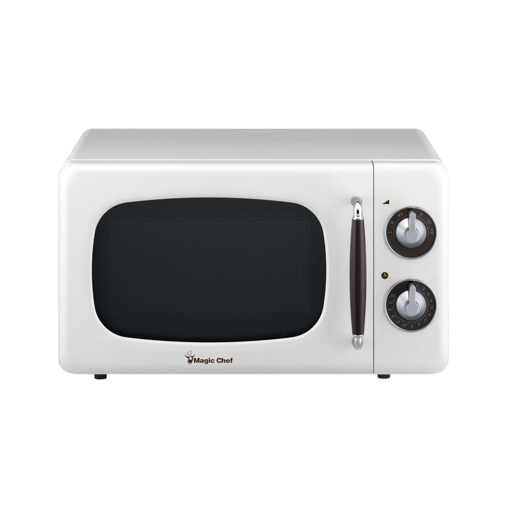 0.7 Cu Ft 700 Watt Countertop Microwave in White