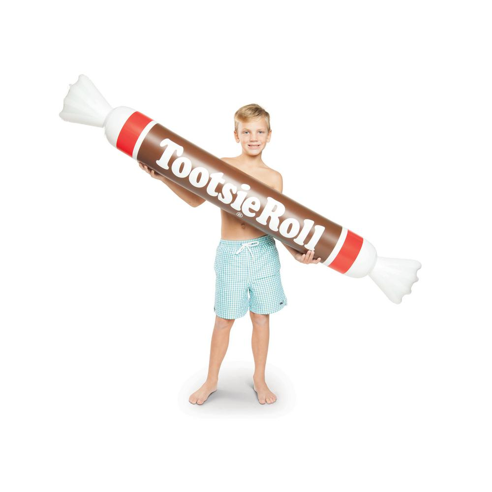 OVER 5 FT Tootsie Roll Inflatable Swimming Pool Noodle Float ~ Big Mouth Toys