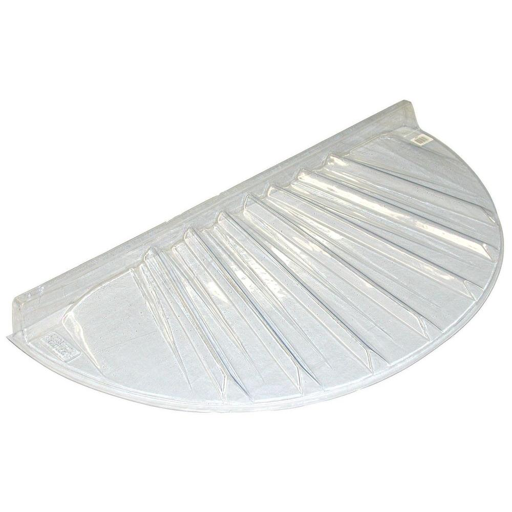 40 in. x 17 in. Low Profile Circular Plastic Window Well