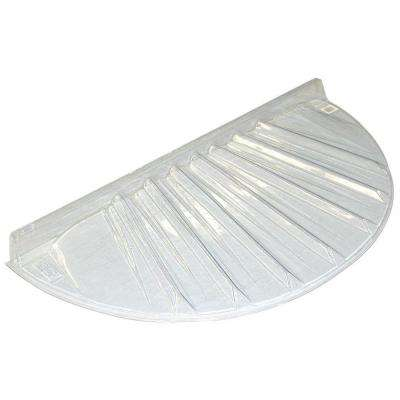 40 in. x 17 in. Low Profile Circular Plastic Window Well Cover