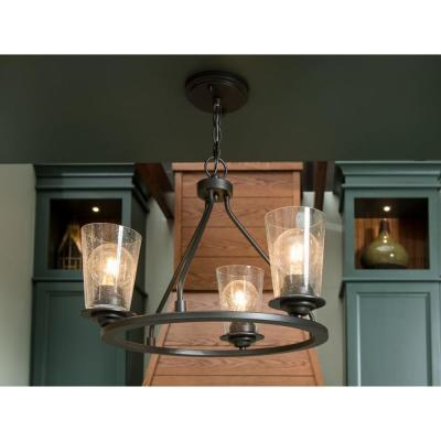 Debut Collection 3-Light Graphite Semi-Flush Mount