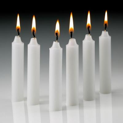 Light In The Dark Taper Candles 4 Inch X 1//2 Inch Thick Burn 1.1//2 Hour White