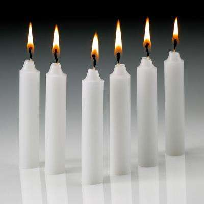 4 in. x 1/2 in. Thick White Taper Candles (Set of 60)