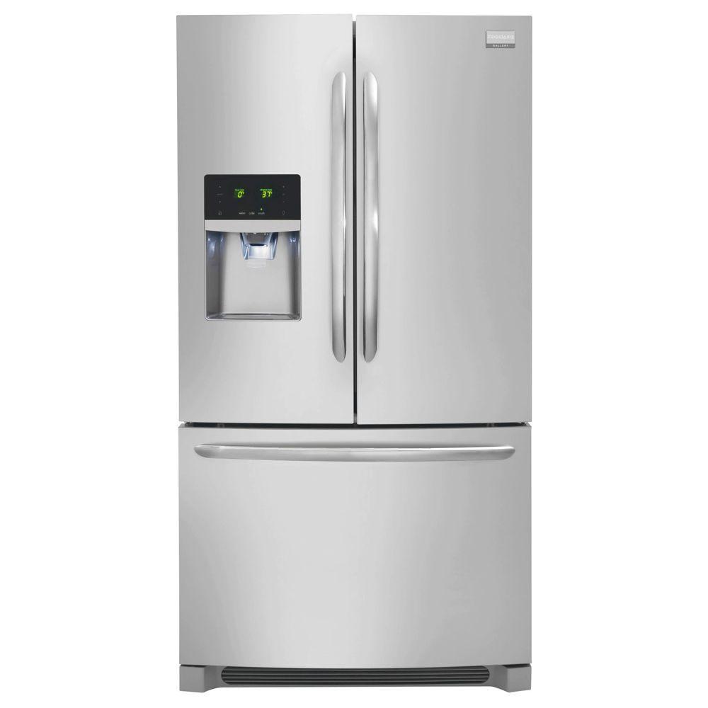 21.9 cu. ft. French Door Refrigerator in Stainless Steel, Counter Depth