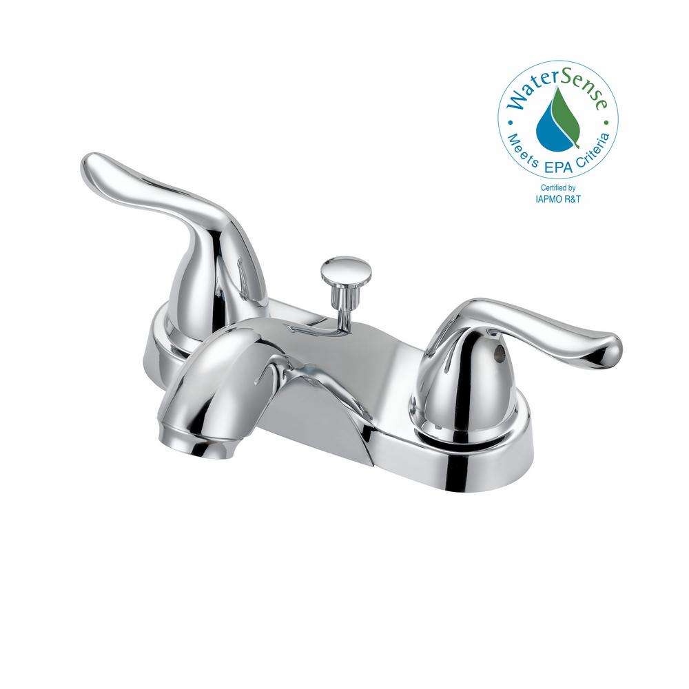 Centerset 2 Handle Mid Arc Bathroom Faucet With