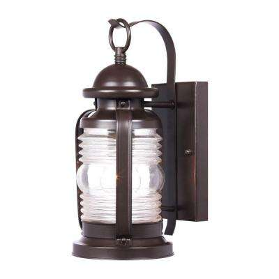 Weatherby Wall-Mount 1-Light Outdoor Weathered Bronze Lantern