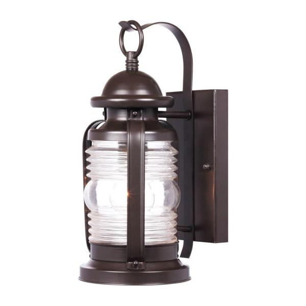 Weatherby Wall-Mount 1-Light Outdoor Weathered Bronze Wall Lantern Sconce
