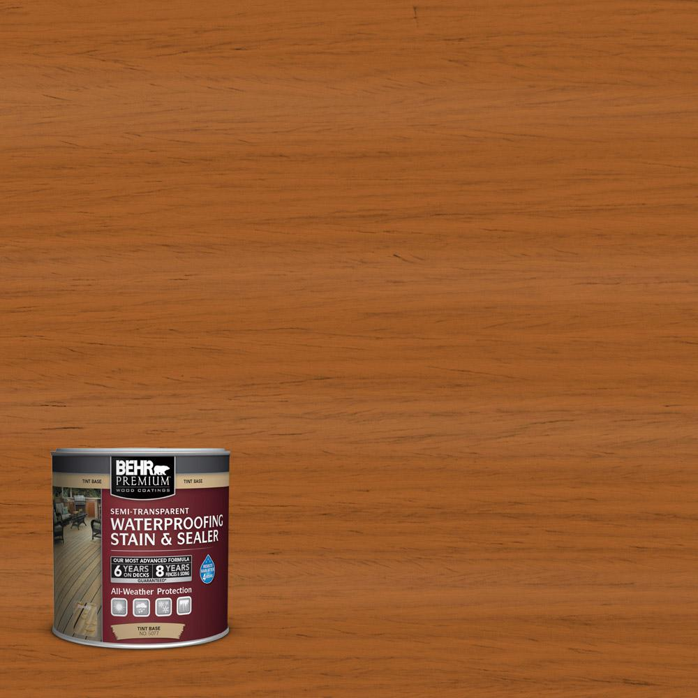BEHR Premium 8 Oz. #ST-533 Cedar Naturaltone Semi-Transparent Waterproofing Exterior Wood Stain