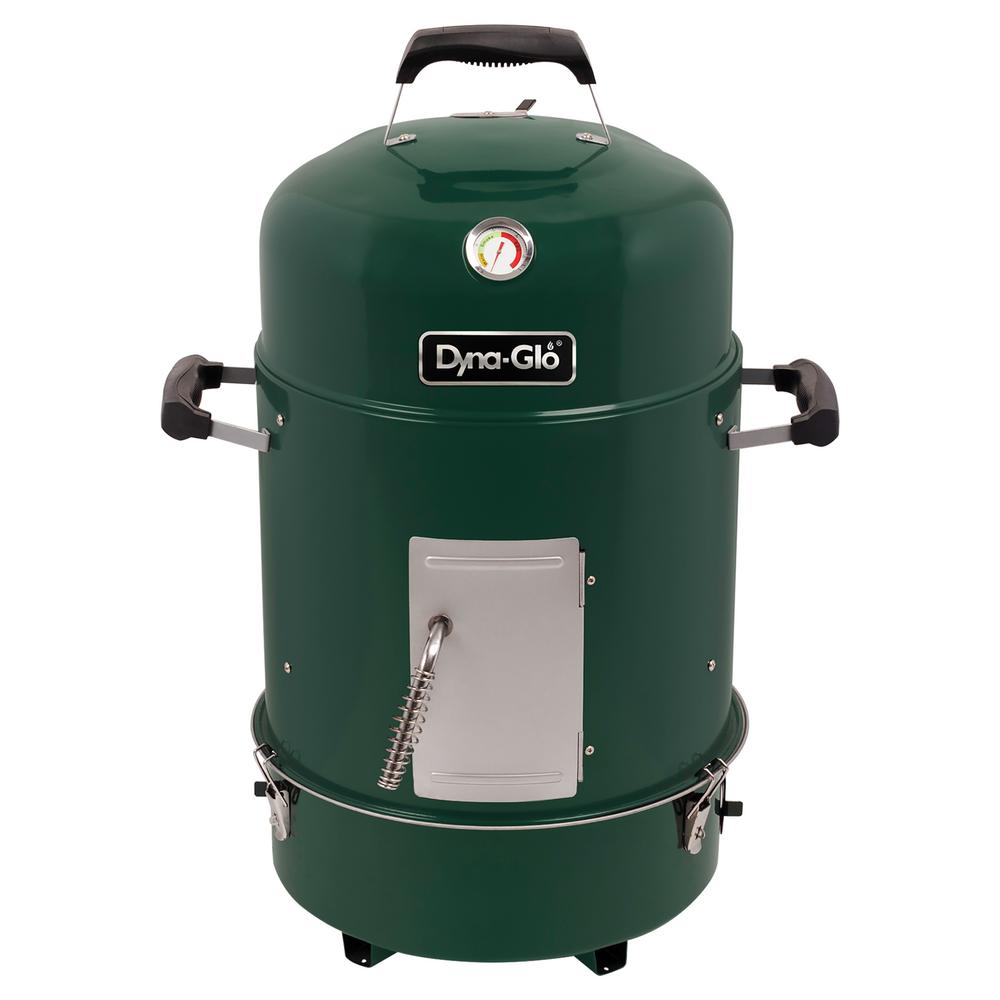 Compact Charcoal Bullet Smoker in High Gloss Forest Green