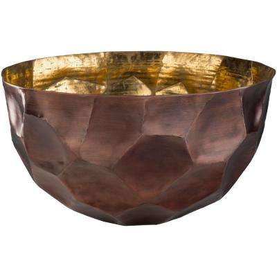 Caz Brown 12 in. Decorative Bowl