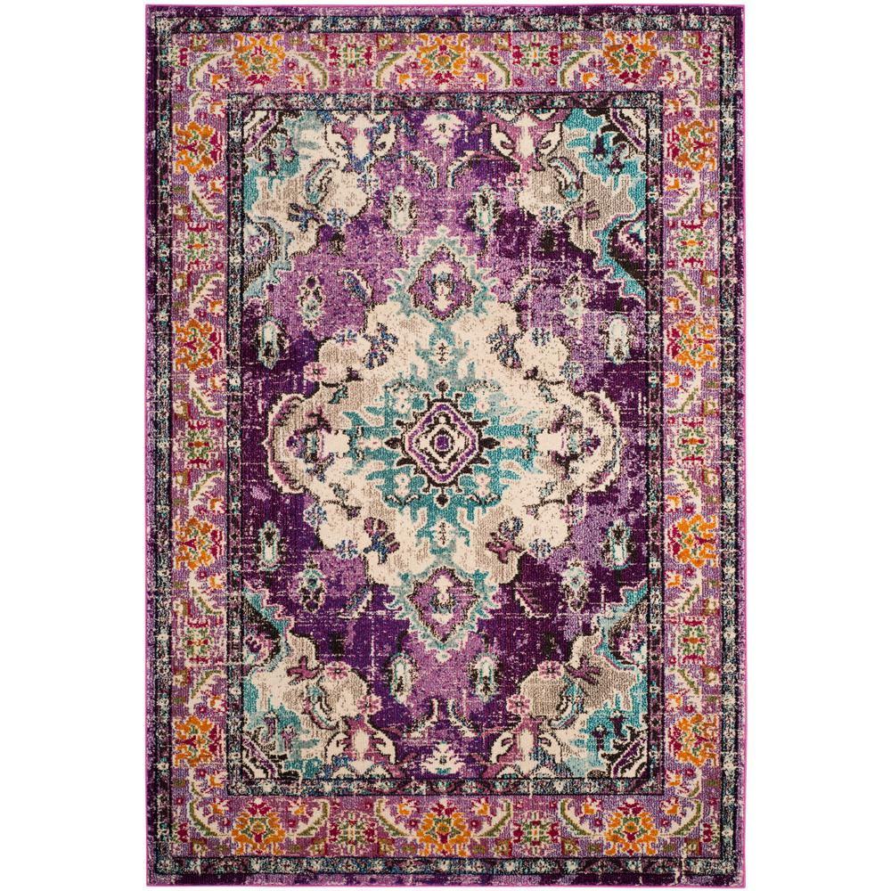 Safavieh Monaco Violetlight Blue 7 Ft X 9 Ft Area Rug Mnc243l 6