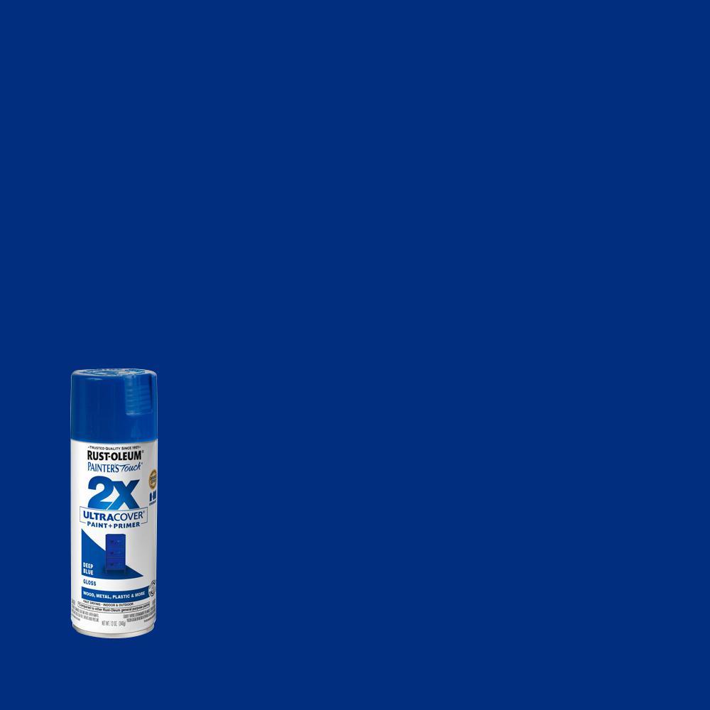 Rust-Oleum Painter's Touch 2X 12 oz. Gloss Deep Blue General Purpose Spray Paint