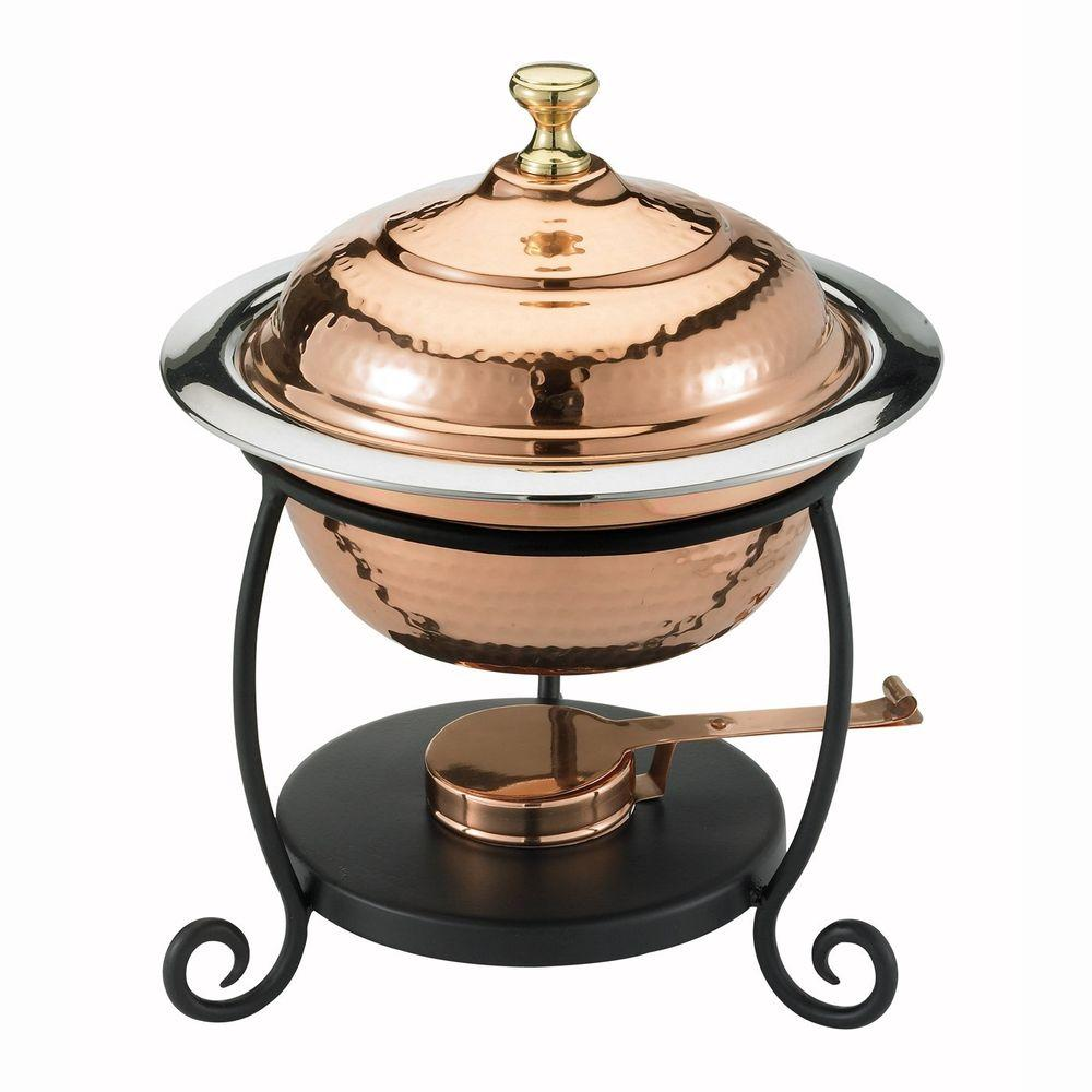 1.75 qt. Round Decor Copper over Stainless Steel Chafing Dish