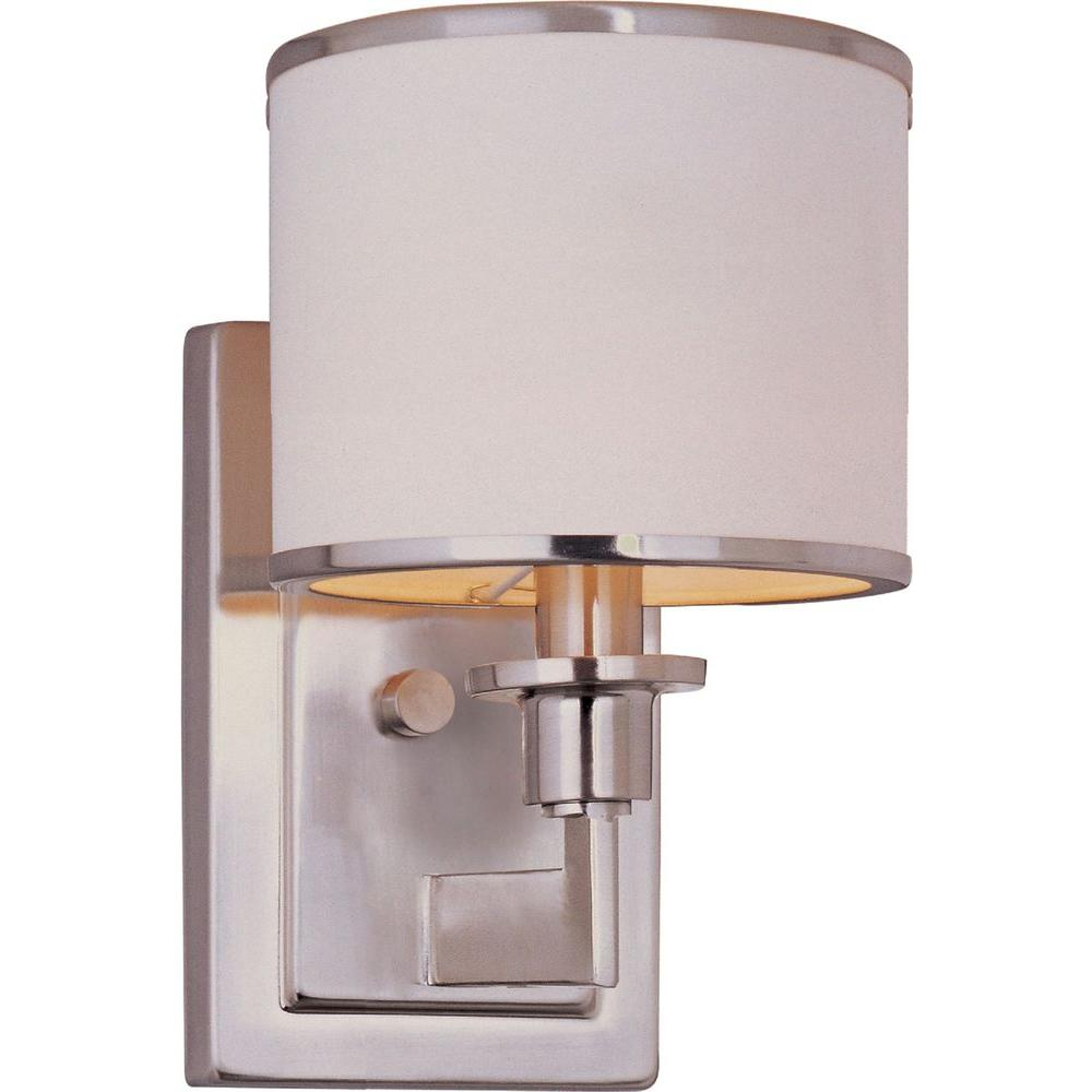 Maxim Lighting Nexus 1-Light 1-Light Satin Nickel Sconce