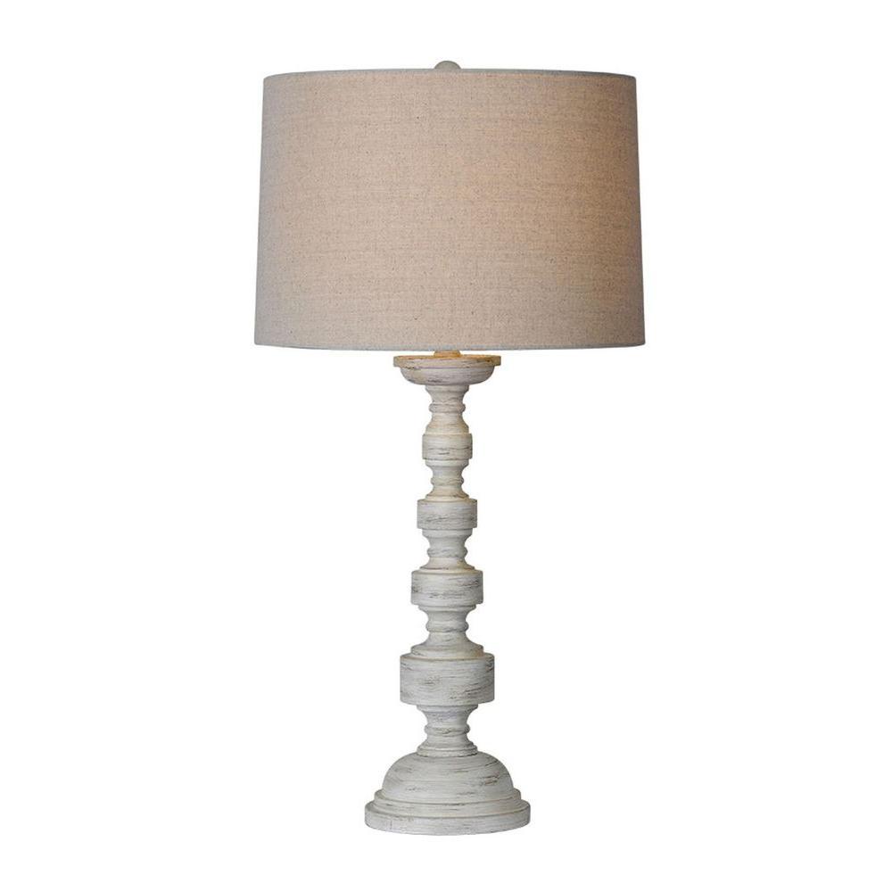 Luna 29 in. Antique White Table Lamp