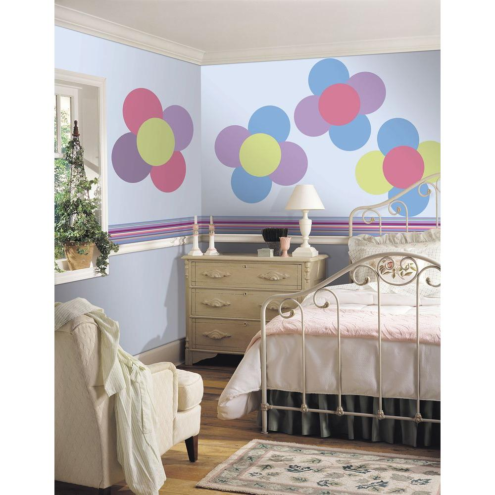 WallPOPs 13 in. x 13 in. Way Cool Blue Dot 10-Piece Wall Decal