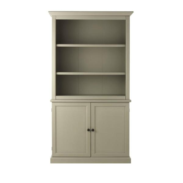 Undefined Ingrid Rubbed Gray 3 Shelf Open Bookcase With Storage
