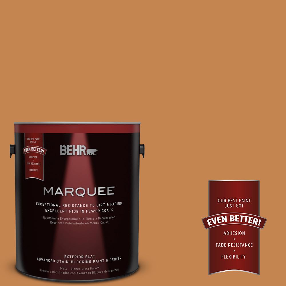 BEHR MARQUEE 1-gal. #PPU4-3 Butter Rum Flat Exterior Paint