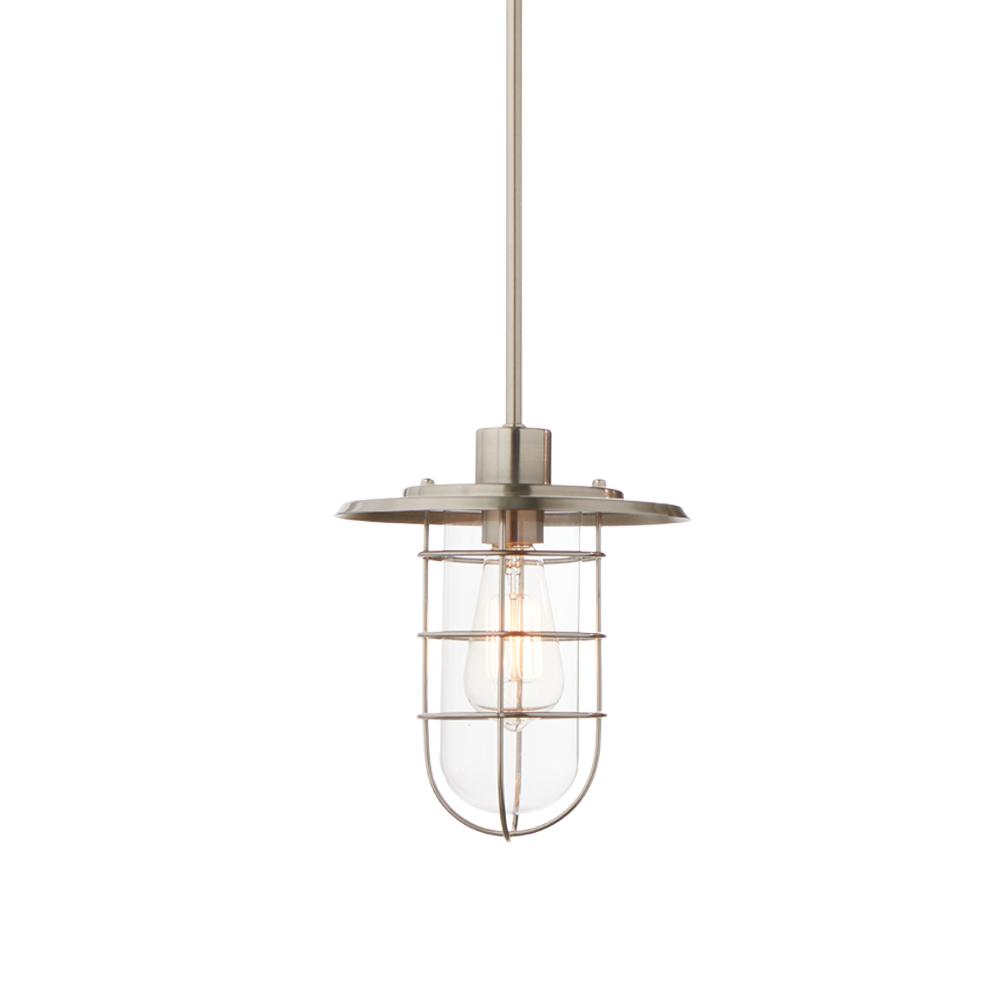 Home decorators collection 1 light brushed nickel fisherman style mini pendant