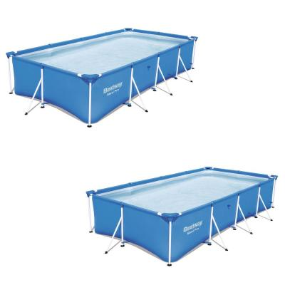 157 in. x 83 in. Rectangular 32 in. D Steel Pro Hard Side Frame Above Ground Pool (2-Pack)