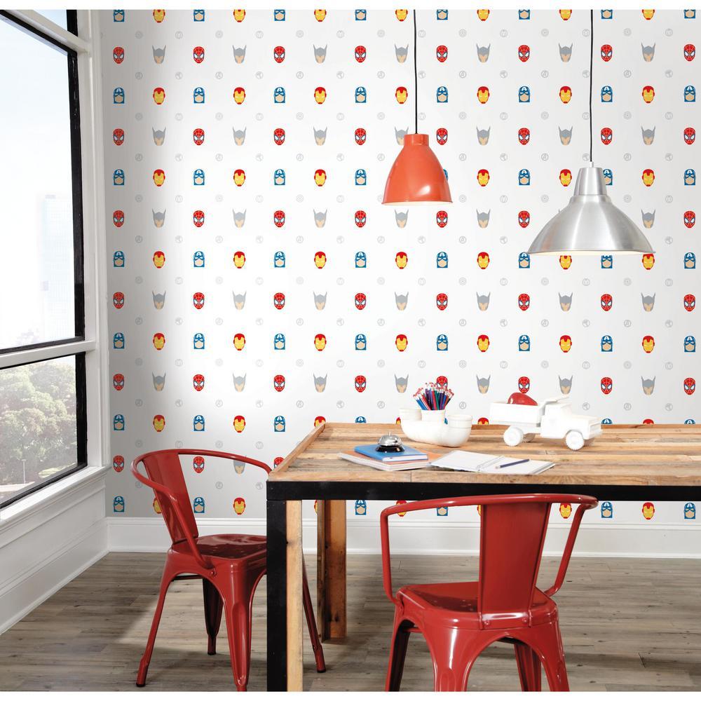 28.29 sq. ft. Avengers Character Spot Peel and Stick Wallpaper