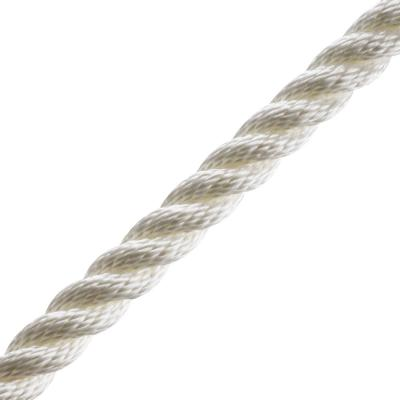 3/4 in. x 1 ft. Nylon Twist Rope, White