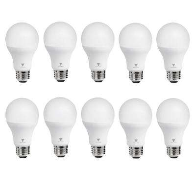 75-Watt Equivalent A19 Dimmable 1,055-Lumens LED Light Bulb Warm White (10-Pack)
