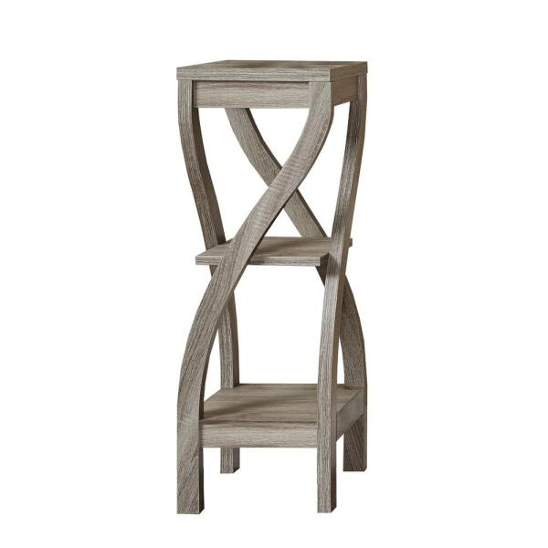 Monarch Specialties Dark Taupe Indoor Plant Stand I 2480