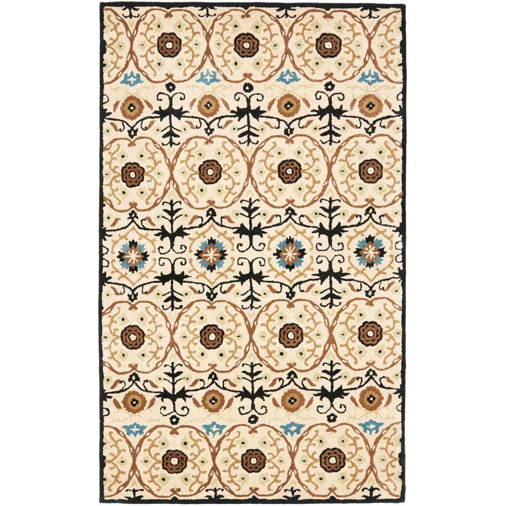 Soho Ivory/Multi 3.5 ft. x 5.5 ft. Area Rug