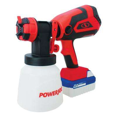 24-Volt 4.0-Ah Cordless HVLP Handheld Paint Sprayer, Airless, Adjust Tips, and Clean-Out Tool