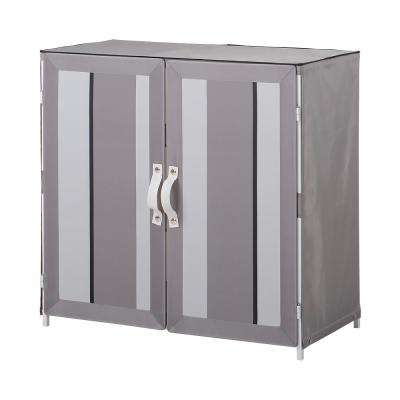 9-Pair Sandy Shoe Rack Cabinet in Gray