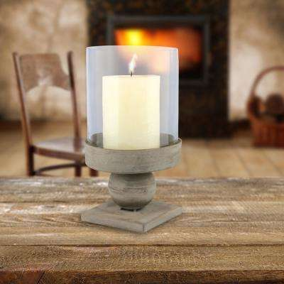 Rustic Brown Hurricane Metal Candle Holder