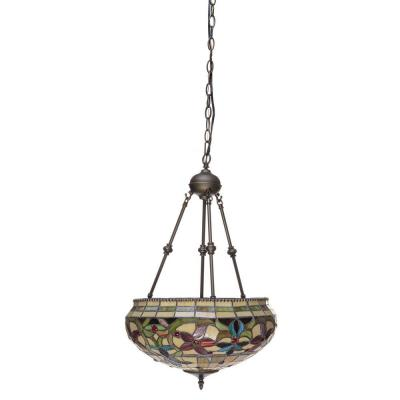 Tiffany 2-Light Baroque Bronze Hanging Pendant Lamp