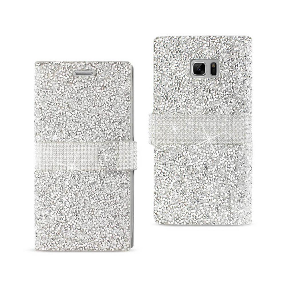 REIKO Galaxy Note 7 Folio Case in Silver