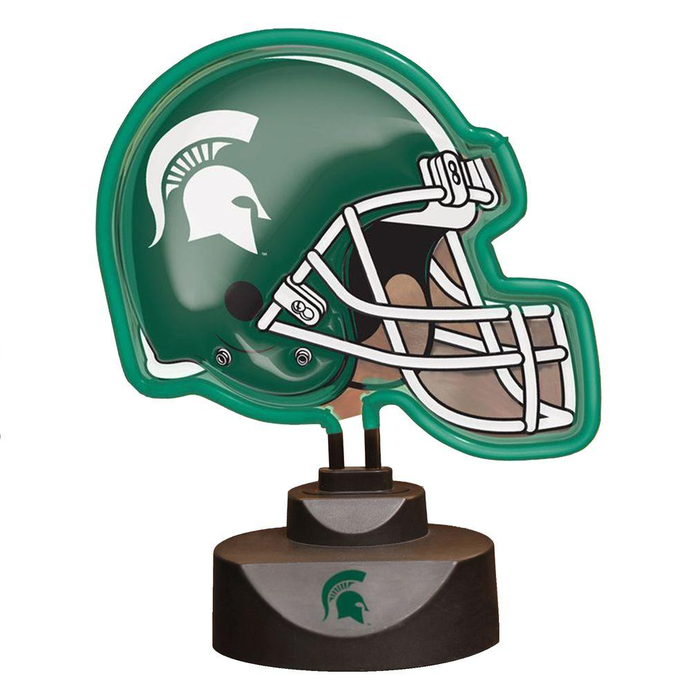 The Memory Company NCAA Neon Helmet Lamp - Michigan State Spartans-DISCONTINUED
