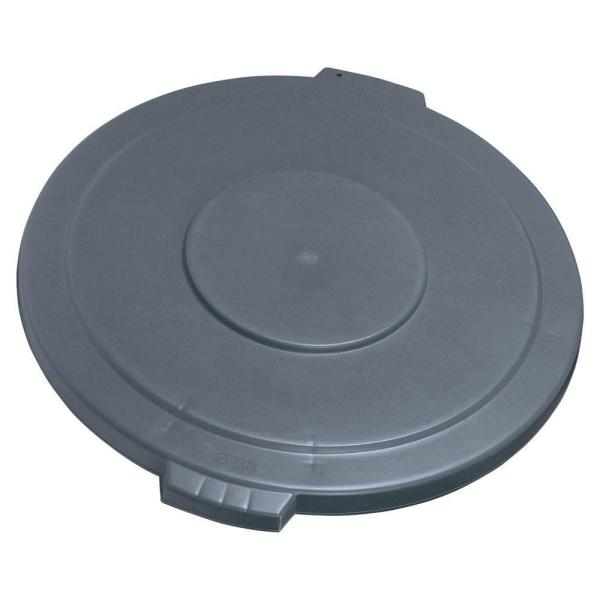 Bronco 44 Gal. Gray Round Trash Can Lid (3-Pack)