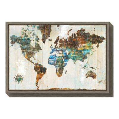 """World of Wonders"" by Sue Schlabach Framed Canvas Wall Art"