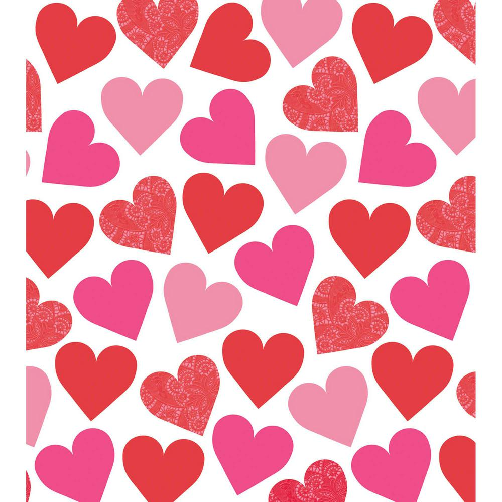 Key To Your Heart 54 in. x 102 in. Plastic Valentine's