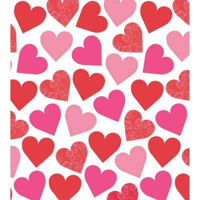 Key To Your Heart 54 in. x 102 in. Plastic Valentine's Day Table Cover (3-Pack)