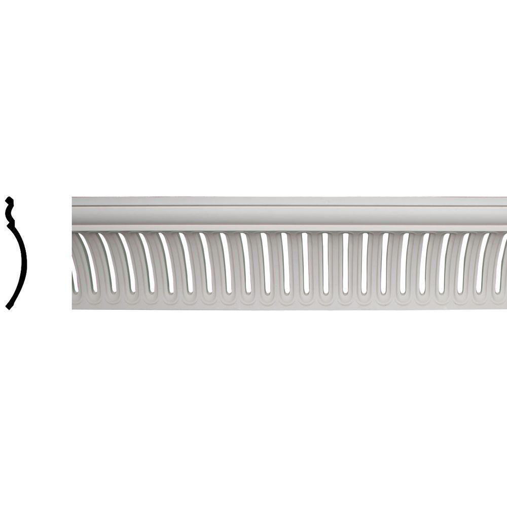 Ekena Millwork 10-7/8 in. x 11-3/8 in. x 95-7/8 in. Polyurethane Melbourne Crown Moulding