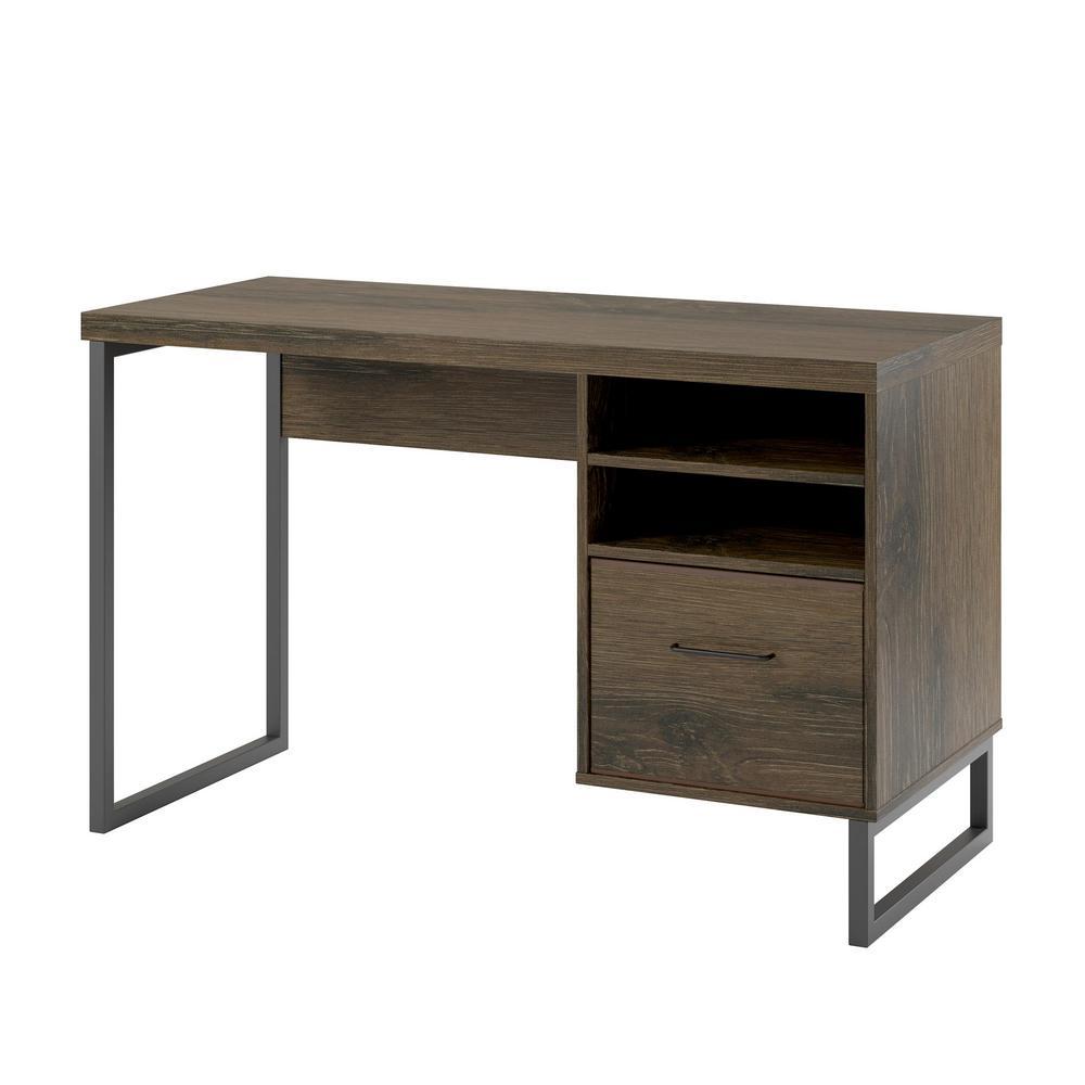Woodbridge Sonoma Mocha Oak Desk with Storage