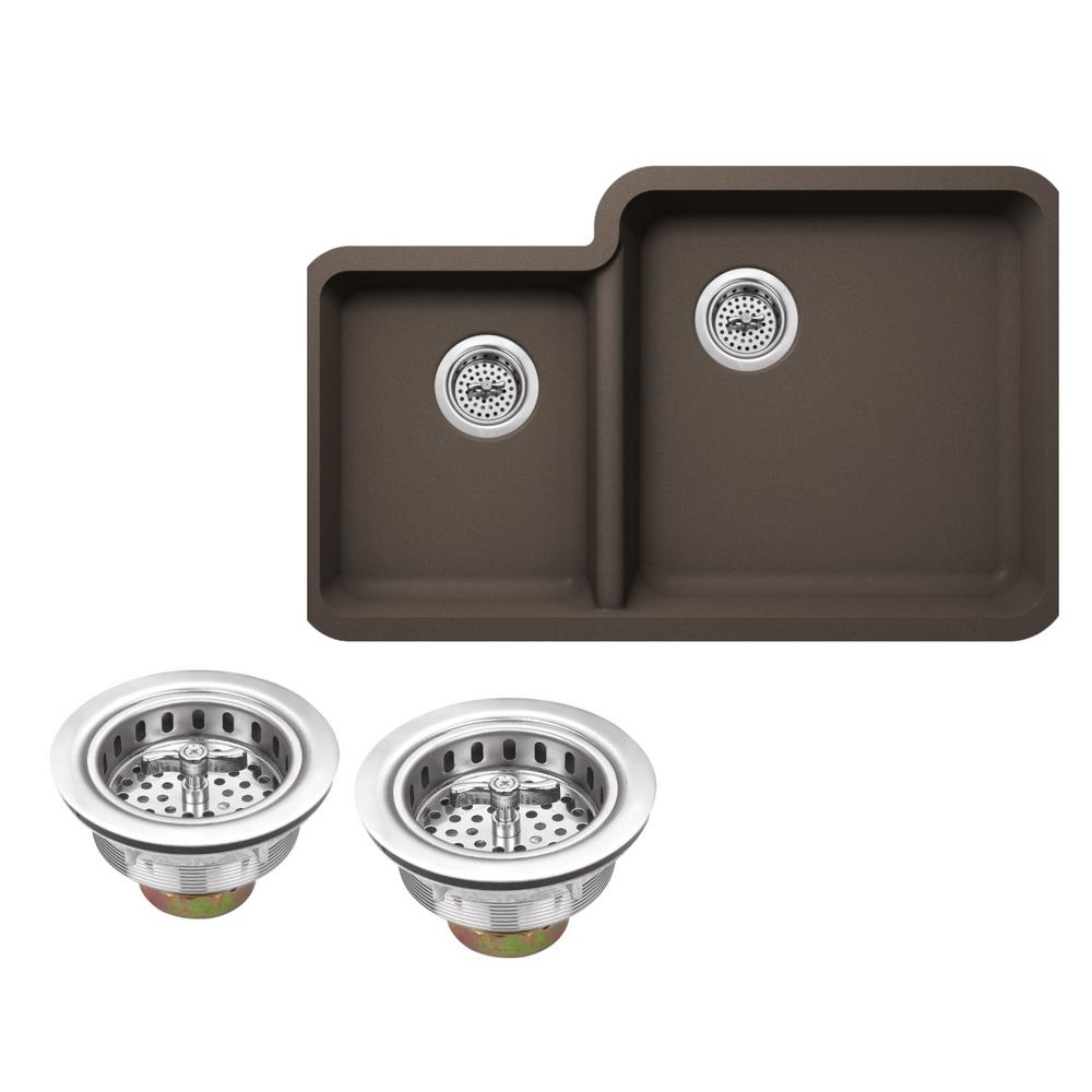 IPT Sink Company Undermount Granite Composite 33 in. Kitchen Sink in ...
