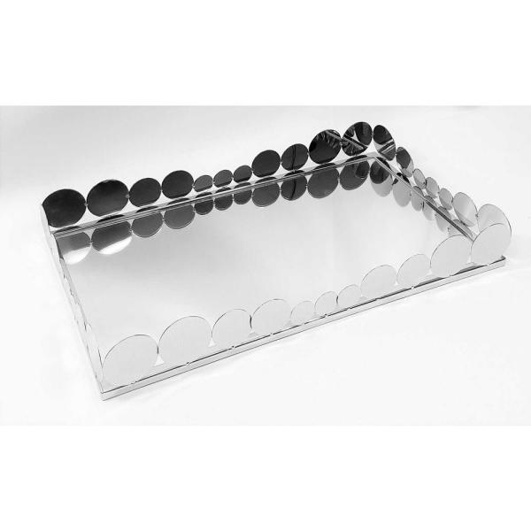 19 in. x 11.5 in. Rectangular Tray With Mirror