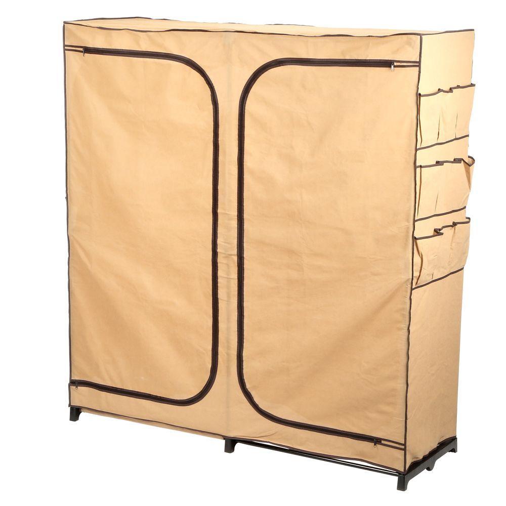 Honey Can Do Wardrobe Storage Closet, Khaki