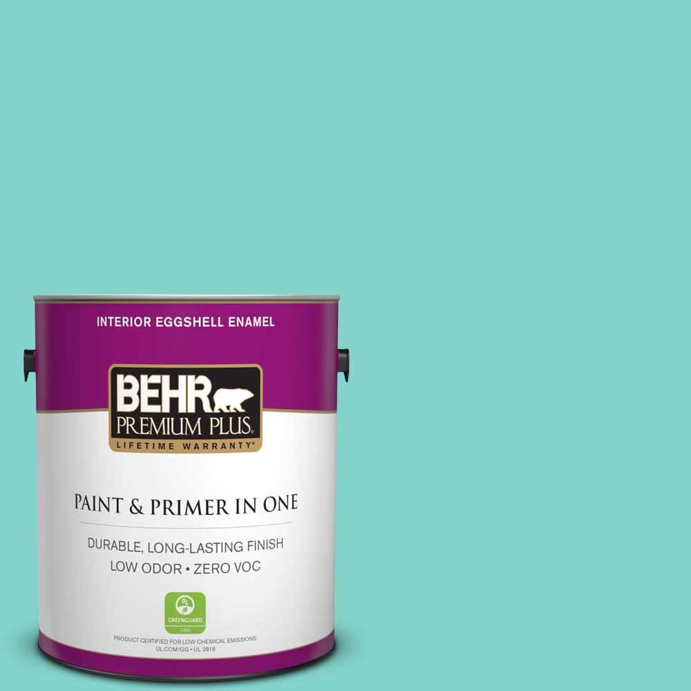 BEHR Premium Plus 1-gal. Home Decorators Collection Island Oasis Eggshell Enamel Interior Paint