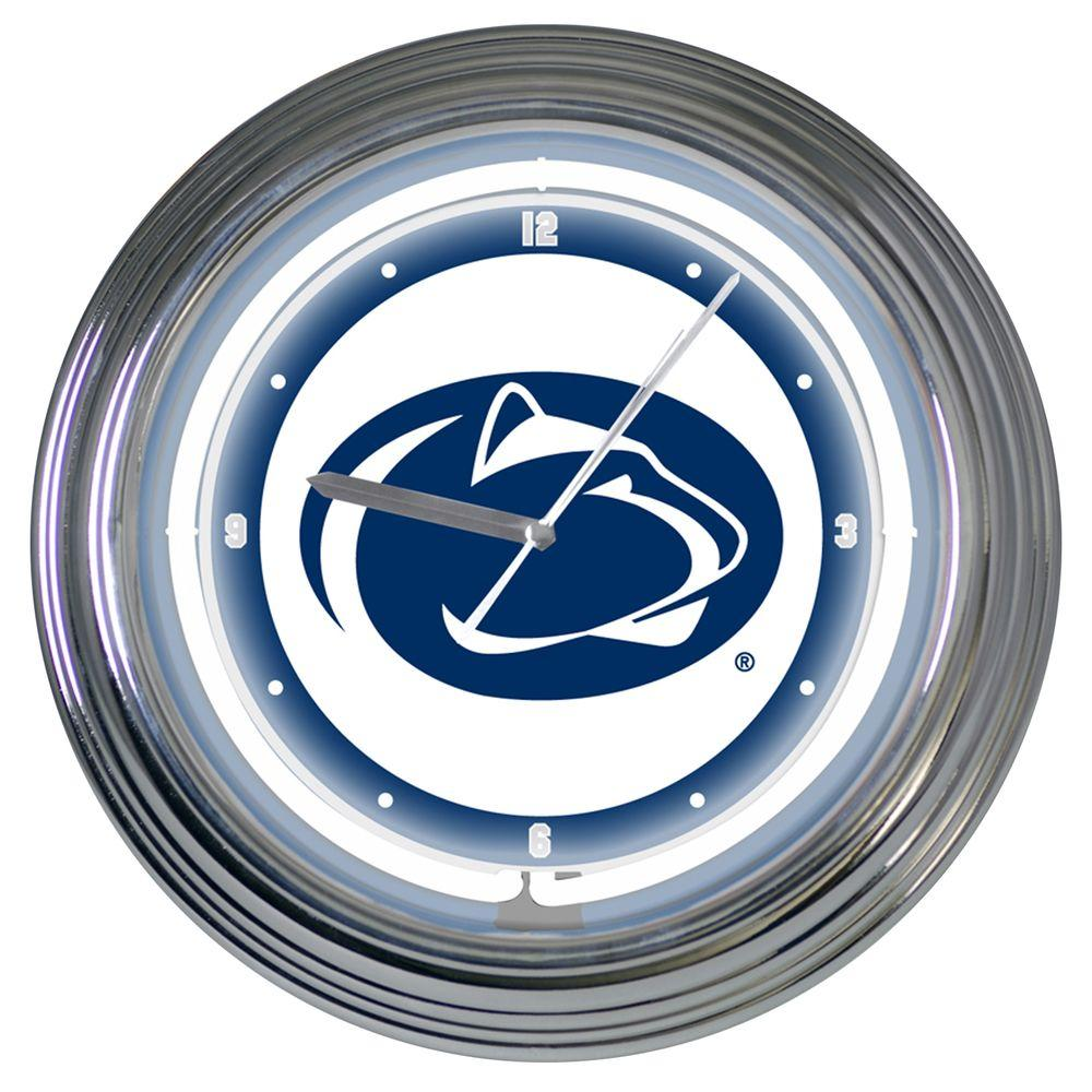 The Memory Company 15 in. NCAA License Penn State Nittany Lions Neon Wall Clock-DISCONTINUED