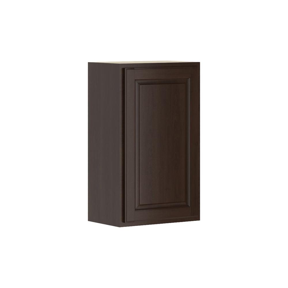 Madison Assembled 18x30x12 in. Wall Cabinet in Java