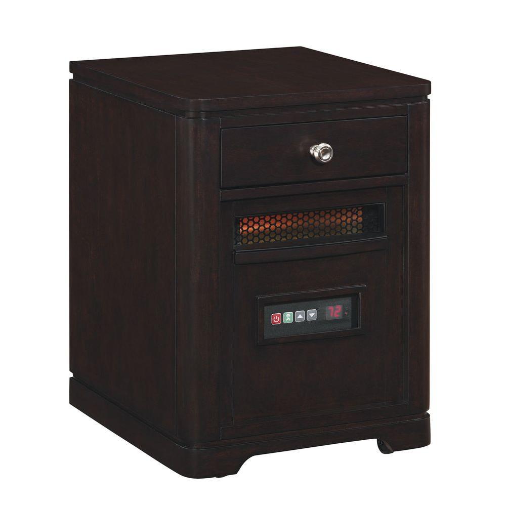 Duraflame 1500-Watt 6-Element Infrared Quartz Electric Portable Heater with Drawer - Espresso